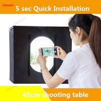 LED small Studio shooting table 45cm mini softbox photo shooting product stills simple light filling props CD50 T03