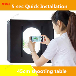 LED small Studio shooting table 45cm mini softbox photo shooting product stills simple light filling props CD50 T03