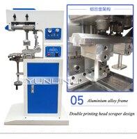 Máquina de impressão pneumática da cor da cabeça dobro industrial da cópia da placa de óleo da máquina da marcação dois (escala 600*60mm) GB-C5