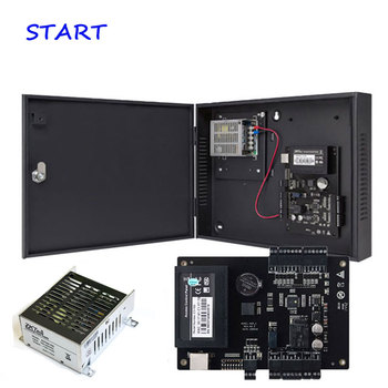 ZK C3-200 Tcp/Ip Rfid Card Access Control System Two door Security Access Controller Double Door with Power Supply Box