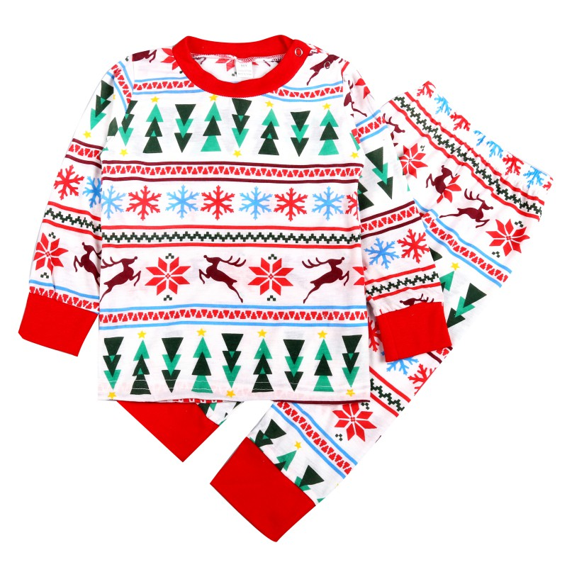 Family Christmas Pajamas Suits Mother Daughter Outfits Family Matching Clothes Sleepwear Pajama Sets Xmas Family Look Y13