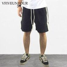VFIVEUNFOUR 2019 New arrivals side stripe design fashion Cotton shorts men hip hop Summer casual Loose Trousers
