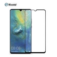 Funda completa de vidrio templado para Huawei Mate 20 X lite, película protectora de cristal para Nova 4 3 3i Honor 8X 8C Y9 P Smart 2019, 9H
