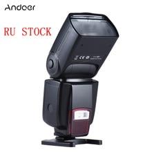Andoer AD 560II אוניברסלי פלאש Speedlite על המצלמה GN50 w/מתכוונן LED למלא אור עבור Canon ניקון אולימפוס pentax DSLR