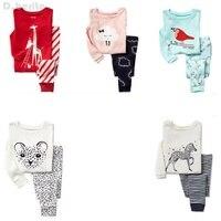 New Kids Girls Pajamas Sets Princess Pyjamas Kids Pajama Infantil Sleepwear Home Clothing Cartoon Cotton Baby
