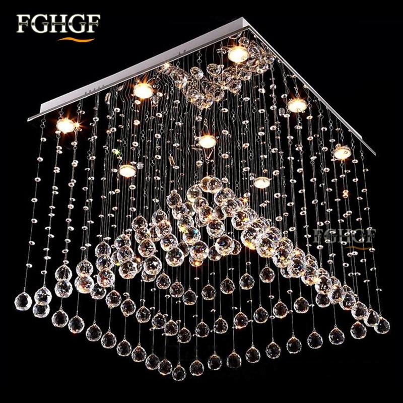 Luksuzni kvadratni kristalni luster Svjetlo Lustres de Cristal - Unutarnja rasvjeta - Foto 2