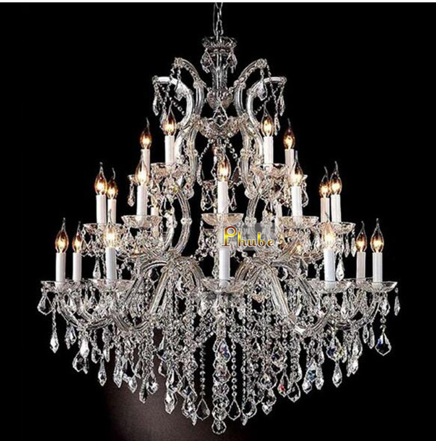 Phube Lighting Maria Theresa K9 Crystal Chandelier Gold Chrome Light Free