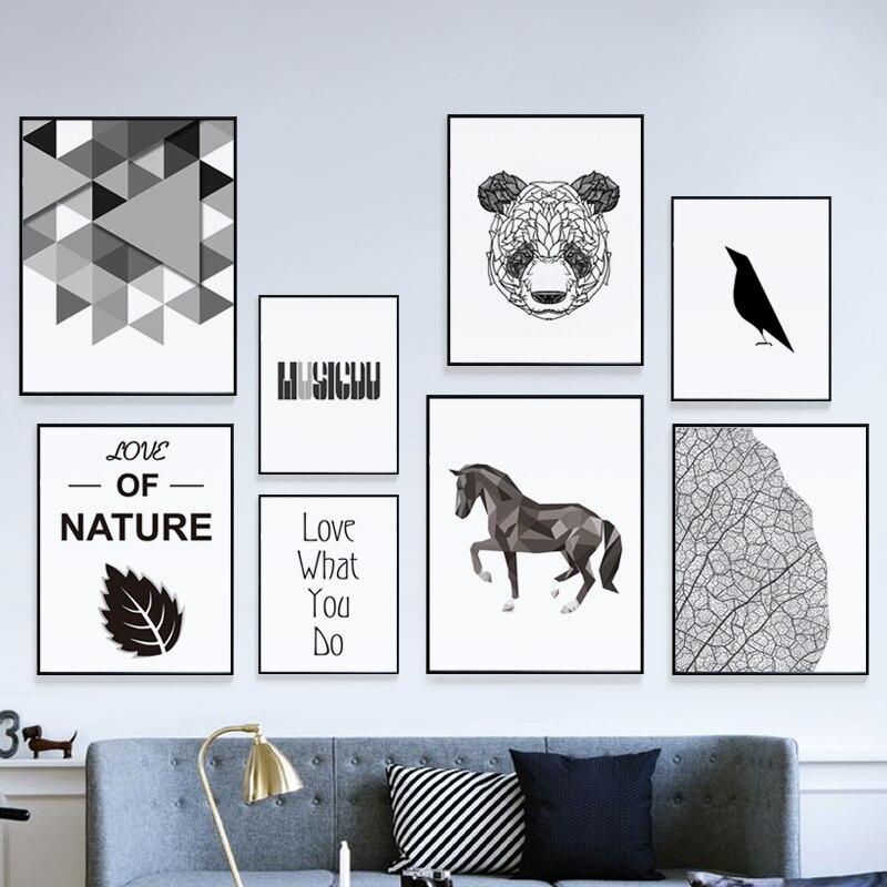 Современные черный, белый цвет минималистский Алюминий сплав металла фото Рамки печати холст Плакаты стены Книги по искусству изображение