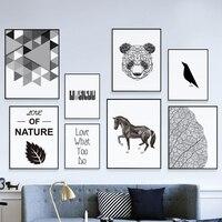 Современный минималистический черно белый алюминиевый сплав металлический фоторамка Печать холст постеры на стену, картины картина норди