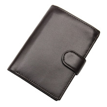 цена на Genuine Leather Wallet Men Business Card Holder Short Wallets Male Fashion Money Purse With Coin Pocket R-8129A