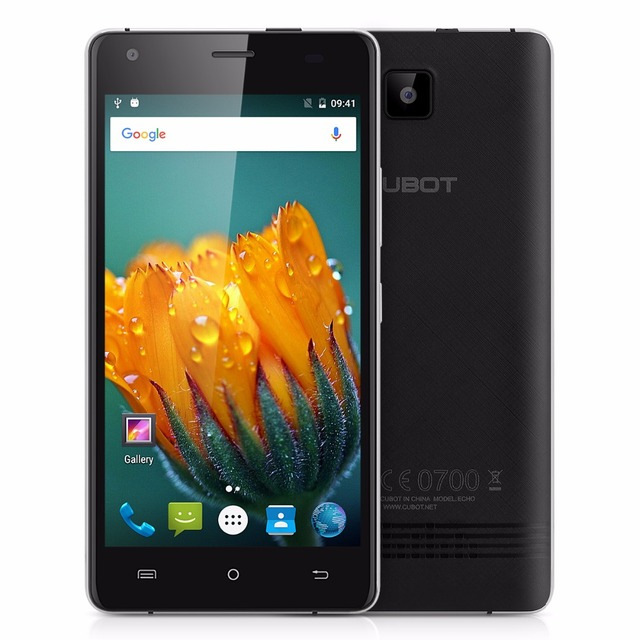 CUBOT ECHO Android 6.0 MTK6580 Quad Core Smartphone 2GB RAM+16GB ROM Cell Phone 5.0 Inch 3000mAh Unlocked Mobile Phone