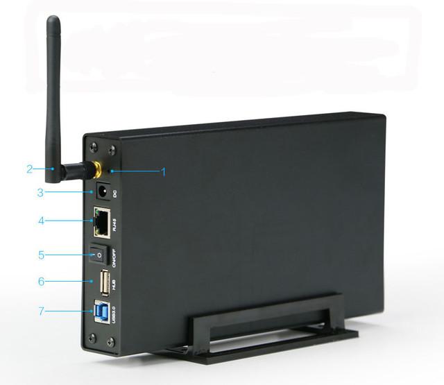 Función Multi 5 GBPS de aluminio caja de disco duro externo usb 3.0 2.5 RJ45 Router wifi hdd sata de 1 TB y 6 TB Duro disco