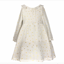2016 New Arrival Autumn White Girl Dress Long Sleeve Casual European Style Girl Kids Clothes 2 To 10 Years Ok0812