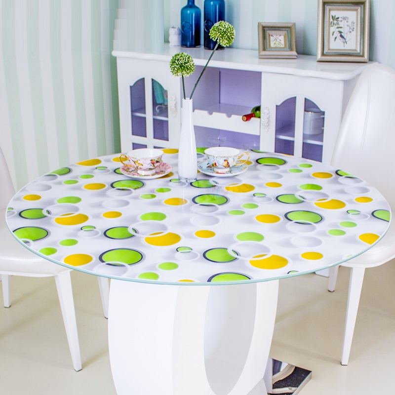 kitchen home Dining waterproof anti scald floral crystal transparent oil proof round PVC placemat mat cover table clothkitchen home Dining waterproof anti scald floral crystal transparent oil proof round PVC placemat mat cover table cloth