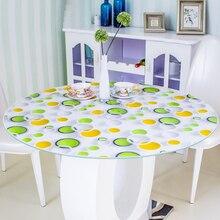 Кухонный домашний обеденный водонепроницаемый анти ожога Цветочный Кристалл Прозрачный маслостойкий круглый из ПВХ коврик скатерть на стол