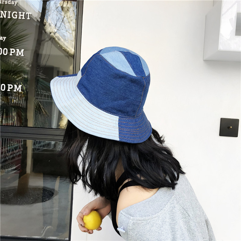 73dff22cd07 Ellacey 2018 Summer Harajuku Denim Jeans Bucket Hat Patchwork Fishing Hat  Cool Hip Hop Panama Men Women s Caps Washed Cloth Cap-in Bucket Hats from  Apparel ...