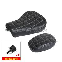 Front and Rear Seats for Harley Sportster XL1200X LC FORTY EIGHT 2010 2015 Black