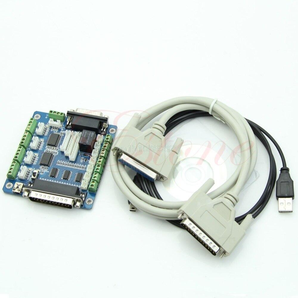 Board Schnittstellenadapter Für Schrittmotor + USB Db25-kabel 5 5-achs-cnc-breakout M126 heißer verkauf