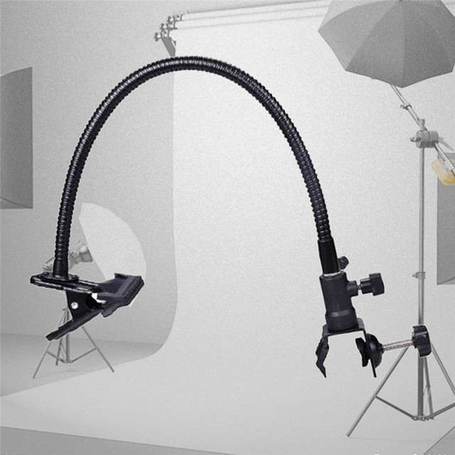 2017 New Reflector Camera Photo Studio Accessories Light Stand Background Holder Clamp Clip Flex Arm Reflector
