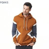 FGKKS 2017 Hoodies Mens Male Hip Hop Male Brand Hoodie Color Stitching Sweatshirt Men Slim Fit