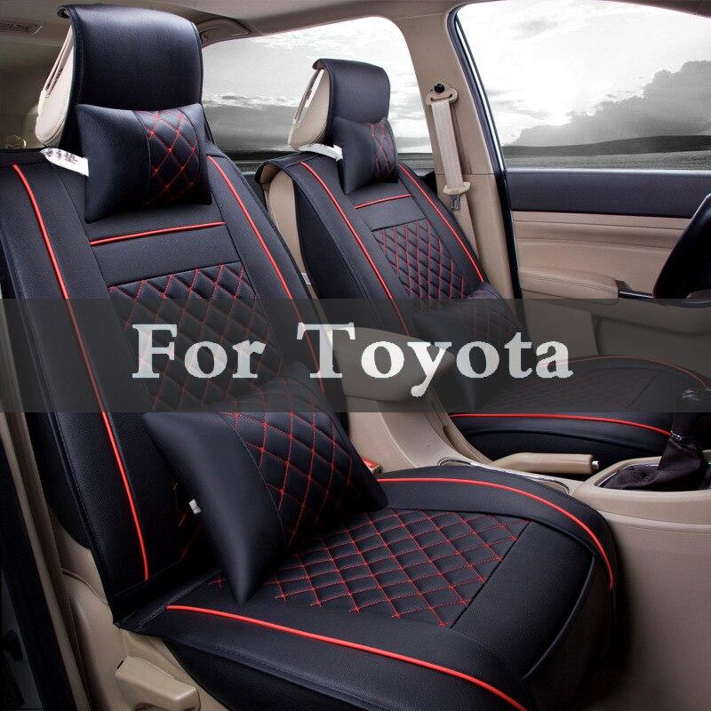 Housse de siège de voiture universelle en cuir housse de coussin unique pour Toyota Hilux Kluger Cruiser Prado Land Surf Ist Iq