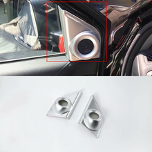 Car Accessories Interior Decoration ABS Matte Door Triangle Stereo Speaker Frame Cover Trims 2pcs For Honda CRV 2018 Styling