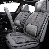 KADULEE Auto FLAX car seat cover For volkswagen gol ford galaxy peugeot 107 lifan solano lexus is250 geely boyue car set covers