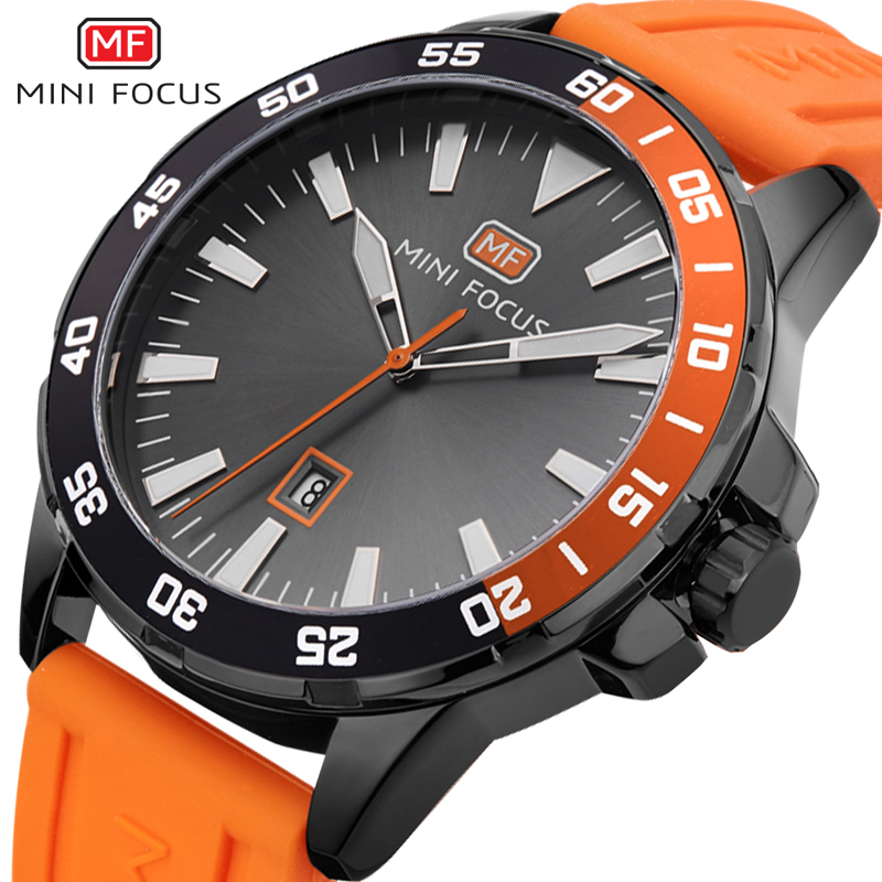 MINIFOCUS Men's Wristwatch Quartz Outdoor Sport Watches Men Waterproof Silicone Luxury Brand Watch Montre Homme Male Clock 2018
