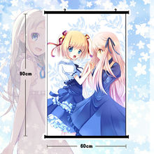 Anime Rewrite Poster Wall Scroll Mural Home Decor Christmas Girl Gift  80x60cm