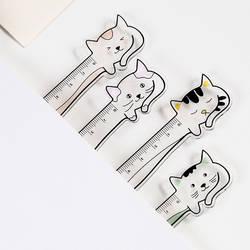Kawaii животных кошка кролик Crylic правитель Мультяшные закладки творческий узнать рисунок прямо правило школьные принадлежности подарок
