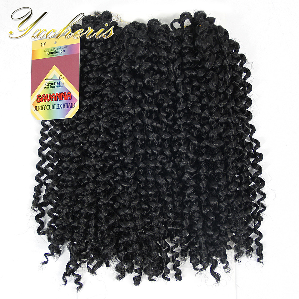 YXCHERISHAIR Synthetic Kinky Curly Crochet Braiding Hair Extensions 10