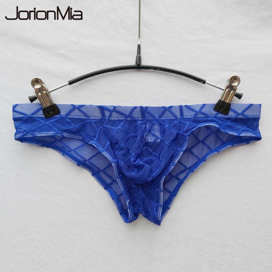 Cuecas Sensuais dos homens U Convexo Cuecas Ultra-fino Homem homens Roupa Interior de Malha Transparente Garfo Calças de Cintura Baixa sexy Shorts HT001