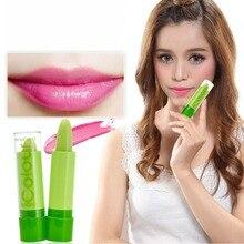 Помада для губ, меняющая цвет, стойкий дизайн, Волшебная температура, увлажняющая, зеленый, розовый