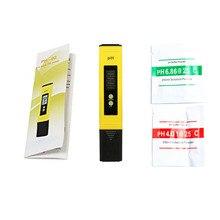 Pocket Pen of Tester Protable LCD Digital PH Meter Accuracy 0.1 Aquarium Pool Water Wine Urine Automatic Calibration Range 0~14