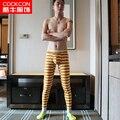 Cockcon Hombres Ropa Interior de Algodón de Acero Caliente Pantalones Largos de Los Hombres Johns Pantalones Calientes Calzoncillos