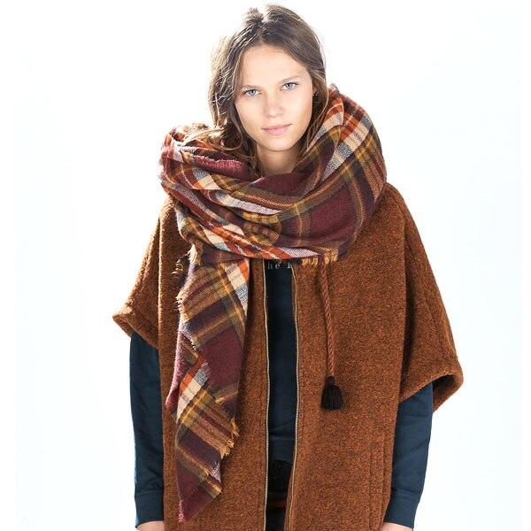 Za major winter 2015 font b tartan b font sjaal plaid sjaal cuadros nieuwe designer unisex