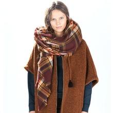 Za major winter 2015 tartan sjaal plaid sjaal cuadros nieuwe designer unisex acryl basic sjaals vrouwen big size sjaals