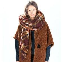 Za major winter 2015 tartan sjaal plaid sjaal cuadros nieuwe designer unisex acryl basic sjaals vrouwen