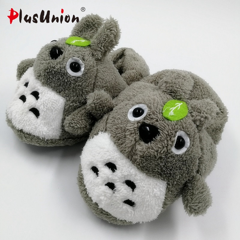 Hot adult warm cartoon cut slippers indoor winter animal flat furry fenty house women slipper with faux anime plush men shoes emoji slippers women cute indoor warm shoes adult plush slipper winter furry house animal home cosplay costumes autumn pantoufle