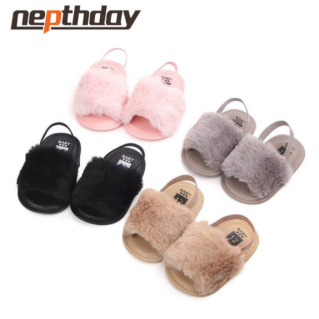 58c5f8bf4 9-12 months baby girl sandals plush solid shoes 5 colors for 12.5cm feet