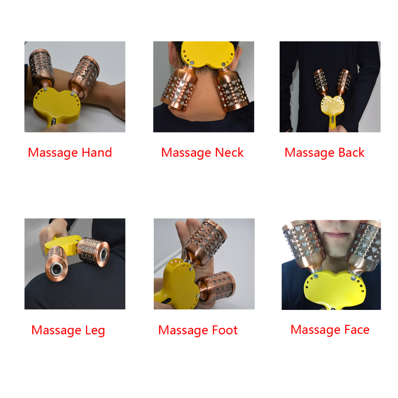 Купить с кэшбэком SHARE HO Double Copper Moxa Facial Acupunture Stick Chinese Moxibustion Therapy Roll holder Points Heating Warm Treatment