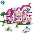Amigos nuevos bloques de construcción de juguetes de la ciudad compatible con legoelieds para niños sluban city playmobil minifugure sol villa