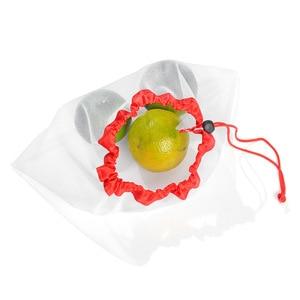 Image 4 - 1 Pcs/3 Pcs/5 Pcs Herbruikbare Produceren Mesh Zakken Touw Groente Speelgoed Opslag Pouch Fruit & Kruidenier zakken Mesh Opbergtas Boodschappentas