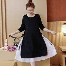 Kleider für schwangere Mutterschaft Kleider Kleidung für schwangere Frauen Schwangerschaft Kleidung Stretch Cotton schwangere Kleid Y713