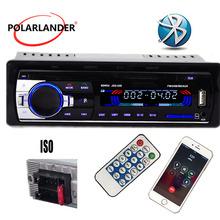 New 12V bluetooth car Radio car stereo bluetooth MP3 Audio Player Bluetooth USB SD MMC Port Car Electronics In Dash one DIN size cheap PolarLander plastic led resolution 0 5kg 188mm(W)*58mm(H) JSD520 english Black 1 Din 4X45W 6 5 87 5---108 5 MHz