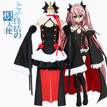 Seraph of the End Third Ancestor Vampire Queen, Krul Tepes Cosplay Costumes