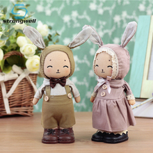 Strongwell Pastoral Jenny Rabbit Ornaments Home Decorations  Resin Crafts New Years Desktop Birthday Gift Cute Cartoon