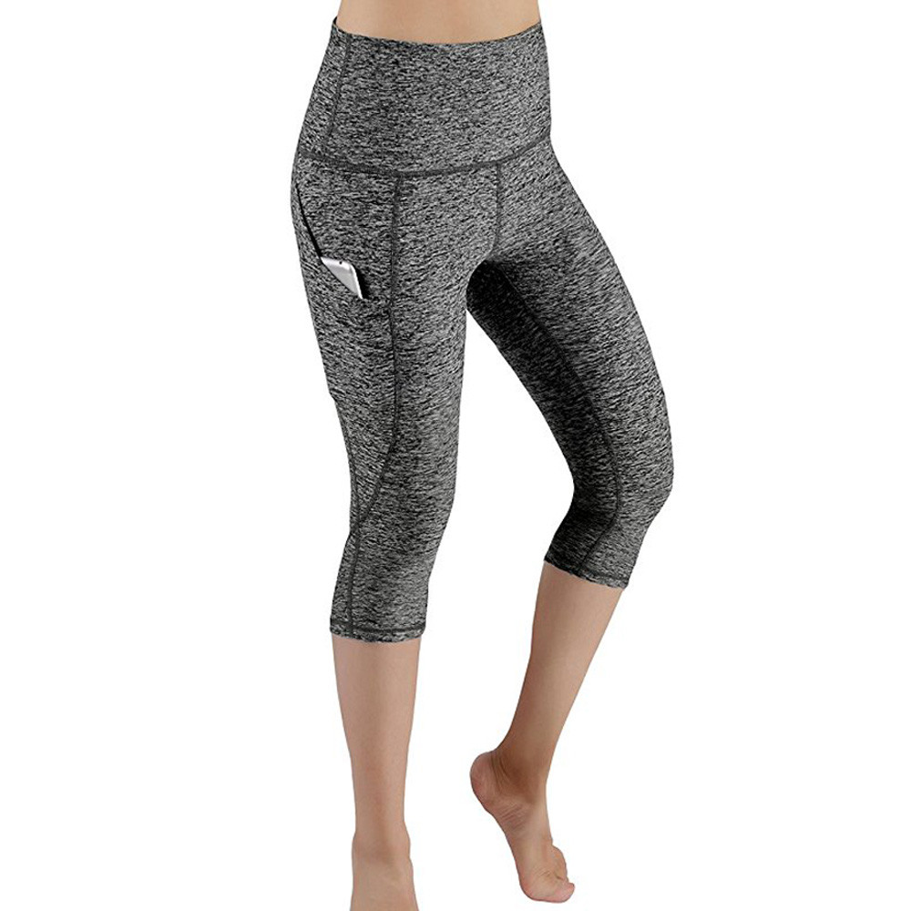 4ce1fad897c Women Workout Out Pocket Leggings Fitness Sports Gym Running short ...