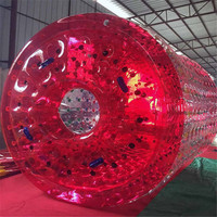 Inflatable Sports Games 0.8mm PVC Outdoor Inflatable Water Game For Summer Inflatable Roller
