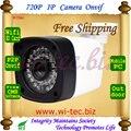 WIFI incorporado 720 P ONVIF Visión Nocturna IR Led de la Cámara de Bala Al Aire Libre Filtro de Corte IR 1.0MP P2P IP Cam Red de almacenamiento de la Tarjeta SD